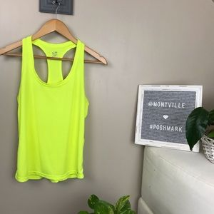 Champion Medium Neon Yellow Tank Top Workout Wear